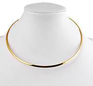 Collar de Diseño Multicolor de Aleación (Plata, Dorado) (1 Pieza)