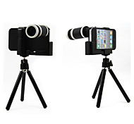 Optical 8X Zoom Telescope Camera Lens Manual Focus with Hard Back Case and Tripod for iPhone4/4S