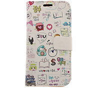 For Samsung Galaxy Case Flip / Pattern Case Full Body Case Cartoon PU Leather Samsung S3