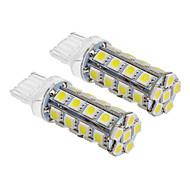 T20 6W 30x5060SMD 540LM 5500-6500K frío bombilla de luz blanca de LED para coche (12V, 2 unidades)