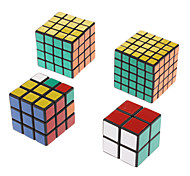 NEW set of shengshou 2x2 3x3 4x4 5x5 black twist puzzle Spring Speed magic Cube