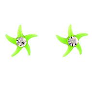 Sweet Green Acrylic Ear Piercing(Green) (1 Pair)