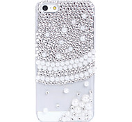 Pearl Hemlines Pattern Metal Jewelry Back Case for iPhone 5C