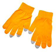 Solid Color Yellow Screen Touching Gloves for iPhone, iPad and All Touch Screen Devices