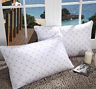 100% coton blanche géométrique oreiller