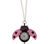 Unisex Bella Coccinella di stile del quarzo della lega della vigilanza della collana analogico (colori assortiti)