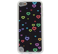 Little Fluorescent Heart-Shape Pattern Epoxy Hard Case for iPod Touch 5