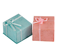Sweet Multicolor Paper Jewelry Box For Ring (Pink,Light Blue)(1 Pc)