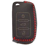 Handmade Genuine Leather Key Case for Volkswagen Keys