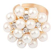 Style doux anneau de perle de fleur