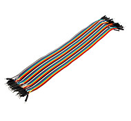 40Pin 1P-1P Male to Male Dupont Line Colorful Dupont Wire(30CM)