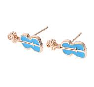 Earring Stud Earrings Jewelry Women Daily Alloy Gold / Blue / Pink