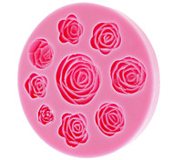 3D Rose Silicone Cookie Biscuit Mold
