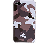 Gray and White Camouflage Pattern Protective Hard Case for iPhone 4/4S