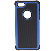 2-in-1 Design Hexagon Pattern Hard Case with Silicone Inside Cover for iPhone 5/5S (Assorted Colors)