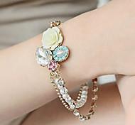 Women's Charm/Strand Bracelet Alloy Imitation Pearl/Rhinestone