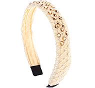 Moda Prata / Bege Headbands de cristal para as mulheres