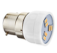2W B22 Focos LED MR11 6 SMD 5630 180 lm Blanco Cálido AC 100-240 V