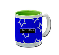 Personalized Blue Star Pattern Green Mugs