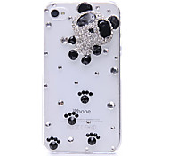 Lovely Panda Pattern Metal Jewelry Back Case for iPhone 4/4S