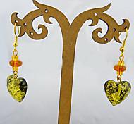 Fashions Heart Glass Earrings