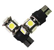 Error gratuito T10 Canbus W5W 194 5050 5 SMD LED Bombillas blancas (1 par)