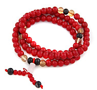 (1 pz) multicolore Agata Wrap Bracelet Vintage 7cm delle donne (rosso, blu e di più)