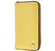 Multi Purpose Crown Zip Smart Handbag Wallet Case Purse for iPhone And Samsung(Yellow)