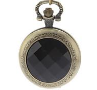 alliage millésime couvercle de cristal noir poche quartz analogique des hommes regarder avec la chaîne