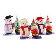 Boneco Hatted e árvore de Natal Decoração de Natal (padrão aleatório)