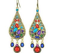 Z&X®  (1 Pc)Fashion Multicolor Resin Drop Earrings(Multicolor)