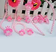 Z&x® сладкий розовый имитация жемчуга (ожерелье&серьги&браслет) комплект ювелирных изделий (белый, розовый)