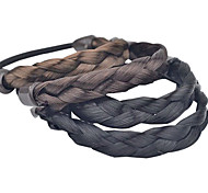(1 Pc)Sweet Fabric Hair Ties FOR Women(Black,Coffee)