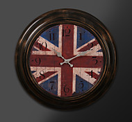 "17""H Retro Flag Style Metal Clock"