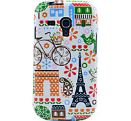 Eiffel tower & House Pattern Glossy TPU Imd Case for Samsung Galaxy S3 Mini I8190