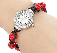 Women's Crystal Ball Style Band Quartz Bracelet Watch (Assorted Colors)