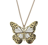 1pc Vintage(Butterfly Pendant) Bronze Copper Pendant Necklace