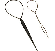 (2 Pcs)Sweet Black Plastic Dish Hair Tool For Women