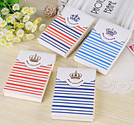 Navy Style Magnetic Buckle Memo Notepad (Random Color)