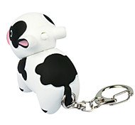 Animais estilo Cow Shaped LED de plástico Keychain
