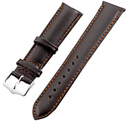 Unisex 20mm Leather Watch Band (Brown) Cool Watch Unique Watch Fashion Watch