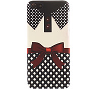 Collar and Bowknot Pattern Smooth Hard Case for iPhone 5C