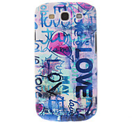 Love-Heart Painting Pattern Plastic Hard Back Case Cover for Samsung Galaxy S3 I9300