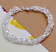 süß 20cm Frauen Silber-Kupfer-Kette & Gliederarmband (silber) (1 PC)