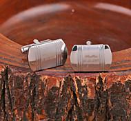 Personalisierte Geschenke Rectangle Silber Metall gravierte Manschettenknopf