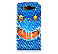 Cowboy Style Smiling Face Pattern PU Leather Full Body Case for Samsung Galaxy S3 I9300