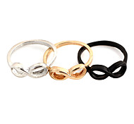 Simple Women's Silver Alloy Statement Rings(Silver,Gold,Black)