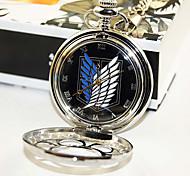 Ataque en Titán cosplay reloj de bolsillo