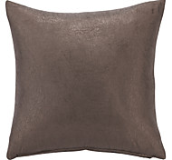 "17"" Squard Wrinkle Solid  Polyester Decorative Pillow With Insert"