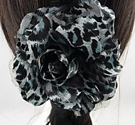 Fashion Beautiful Flower Feather Hairpins Brooches for Women.